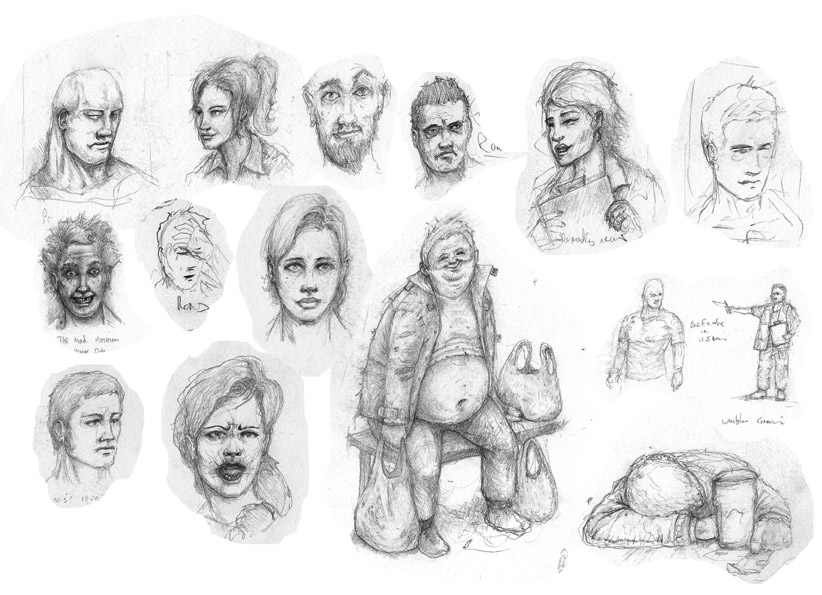 Character Sketches, Doodles, and pencils ramblings