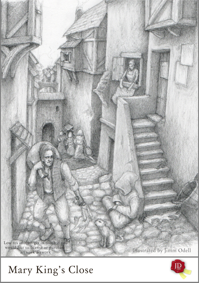 What is the real Mary Kings Close in Edinburgh images - artwork